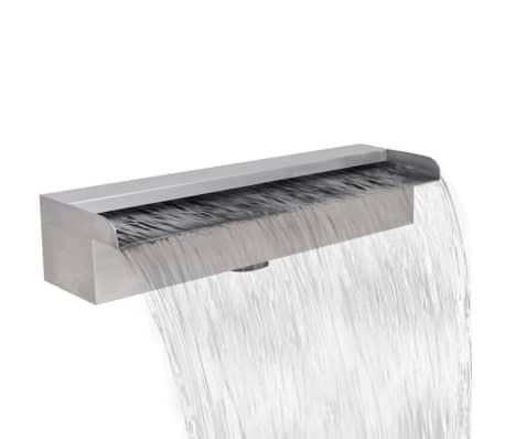 "Rectangular Waterfall Pool Fountain Stainless Steel 17.7""[1/6]"