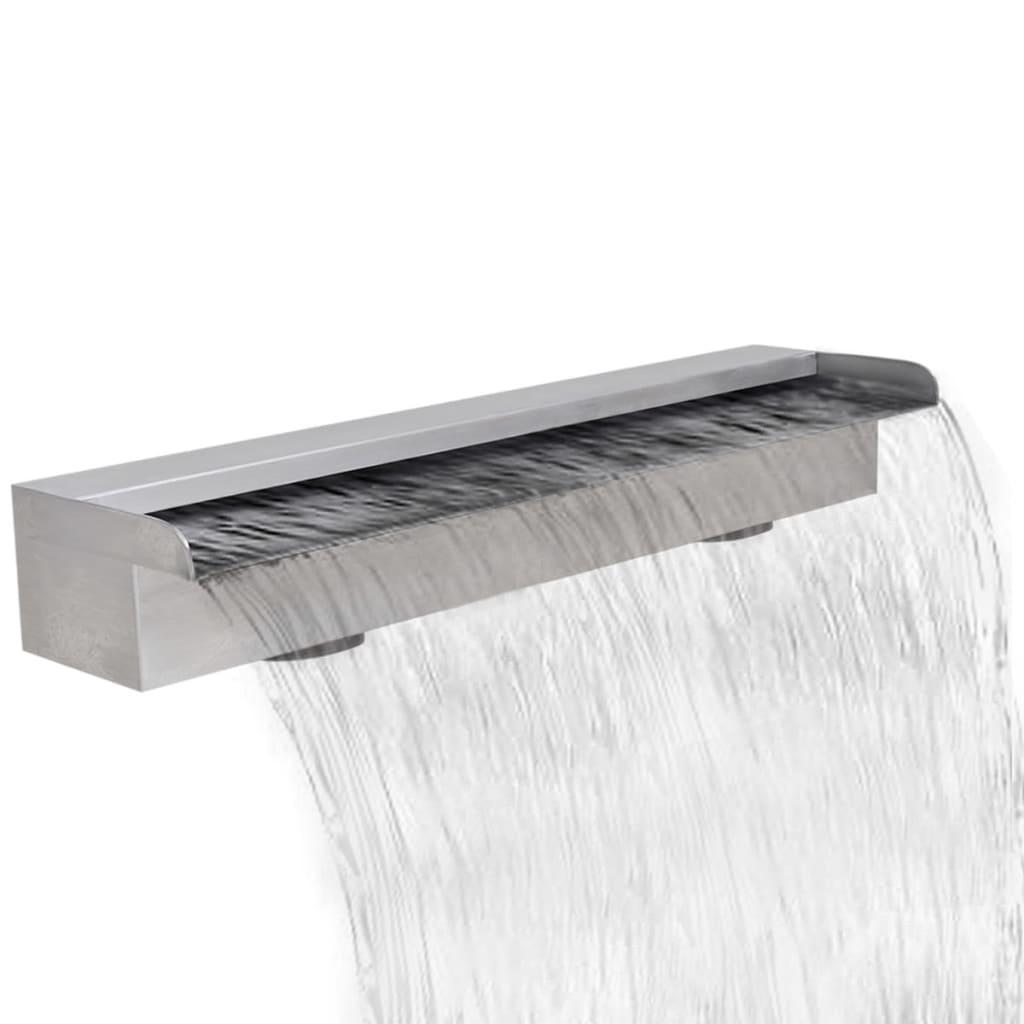 Obdélníková bazénová fontána nerezová ocel 60 cm