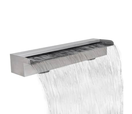 "Rectangular Waterfall Pool Fountain Stainless Steel 23.6""[1/5]"