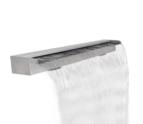 "Rectangular Waterfall Pool Fountain Stainless Steel 47.2""[1/5]"