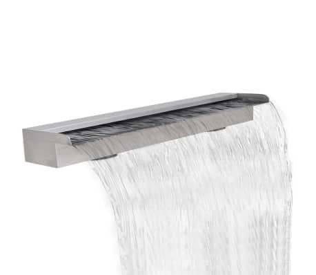 "Rectangular Waterfall Pool Fountain Stainless Steel 59""[1/5]"