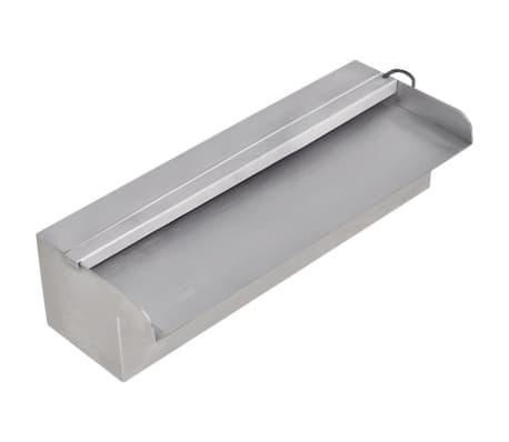 vidaXL Fonte para piscina retangular com LEDs 30 cm aço inoxidável