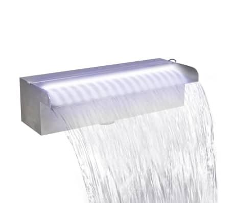 Acheter lame d 39 eau rectangulaire led 30 cm en acier - Piscine rocciose ...
