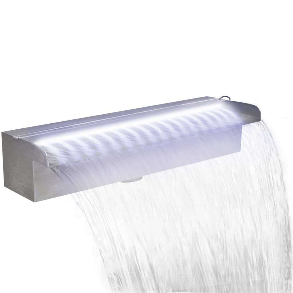 Obdélníková bazénová fontána s LED nerezová ocel 45 cm