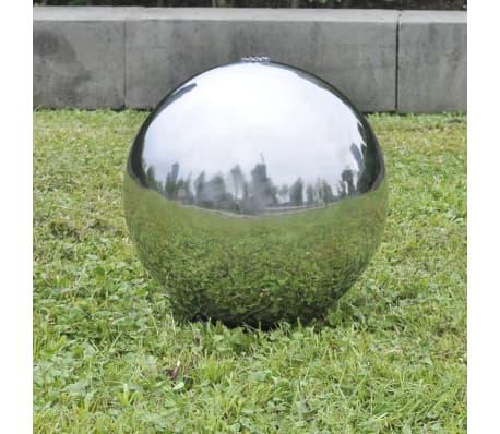 Garten springbrunnen sphere mit leds edelstahl 20 cm for Garten springbrunnen