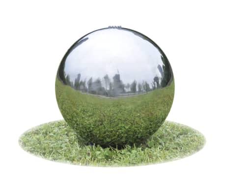 Nakupte Zahradní fontána koule s LED diodami Nerezová ocel 30cm ... 88fff043f50