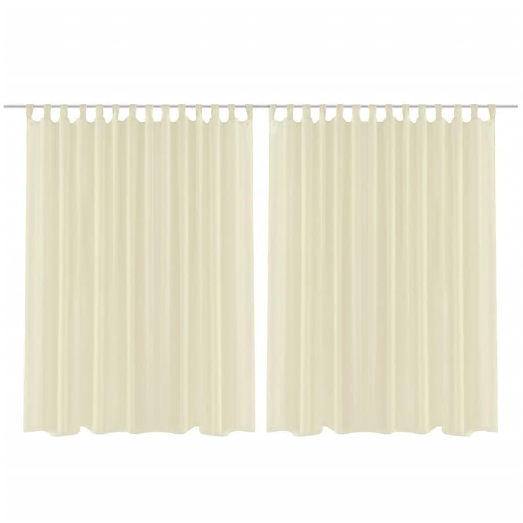2 ks záclona 290 x 175 cm krémová