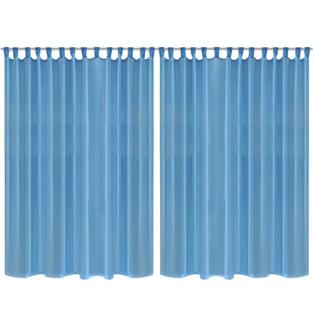 Draperie transparentă, 290 x 175 cm, turcoaz, 2 buc. poza 2021 vidaXL