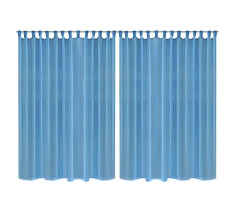 2 cortinas turquesas transparentes 290 x 175 cm for Cortinas turquesas salon