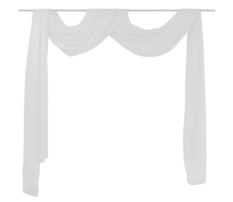Draperie transparentă din voal 140 x 600 cm, alb[1/2]