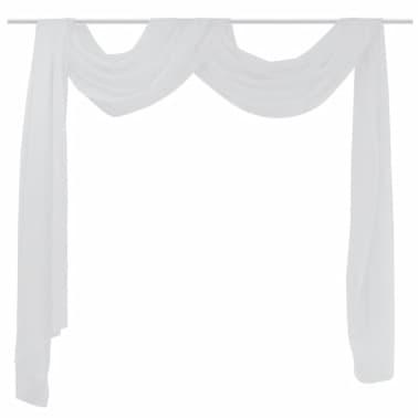Draperie transparentă din voal 140 x 600 cm, alb[2/2]