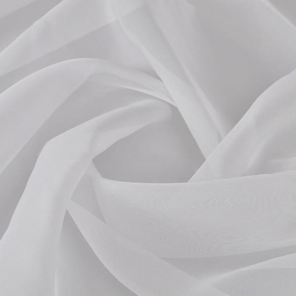 Pânză de voal, 1,45 x 20 m, alb imagine vidaxl.ro