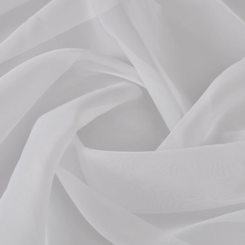 Voálová tkanina 1,45 x 20 m bílá