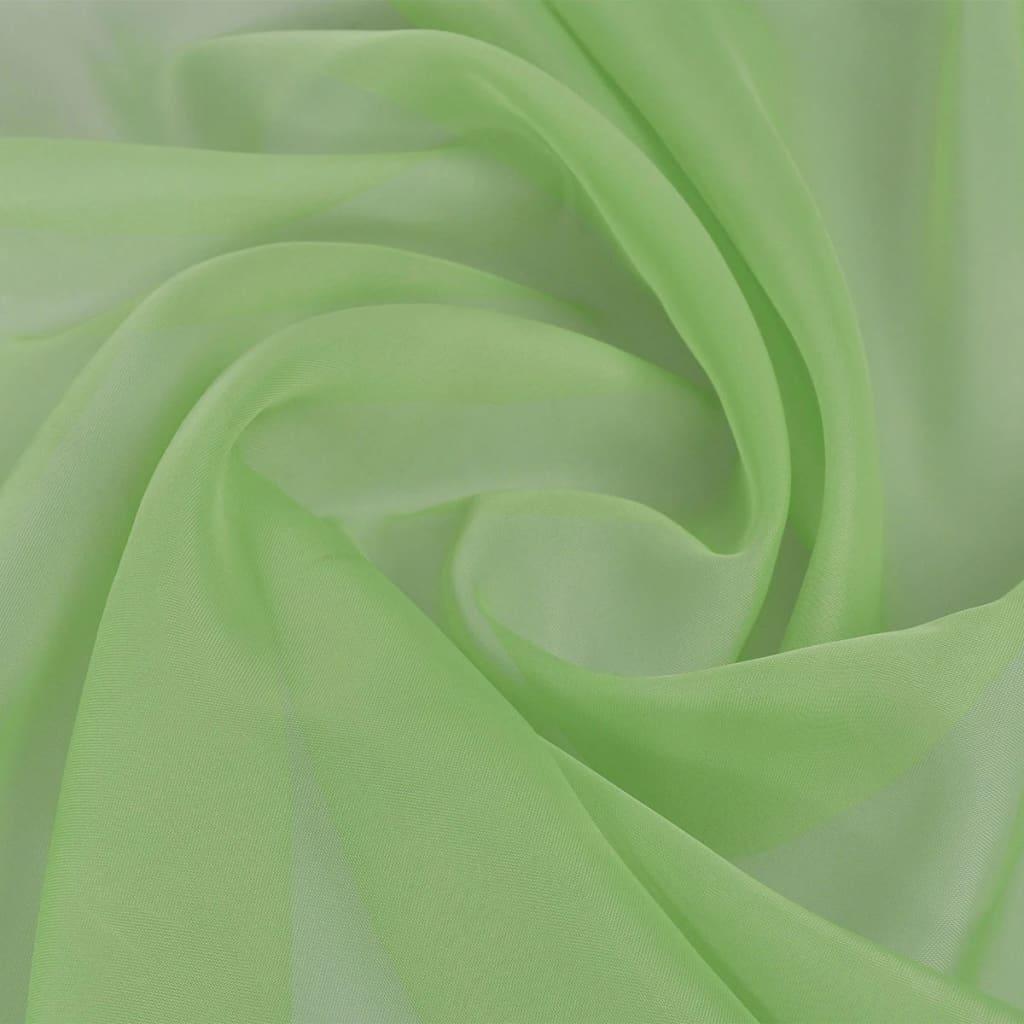 Țesătură voalată, 1,45 x 20 m, verde imagine vidaxl.ro