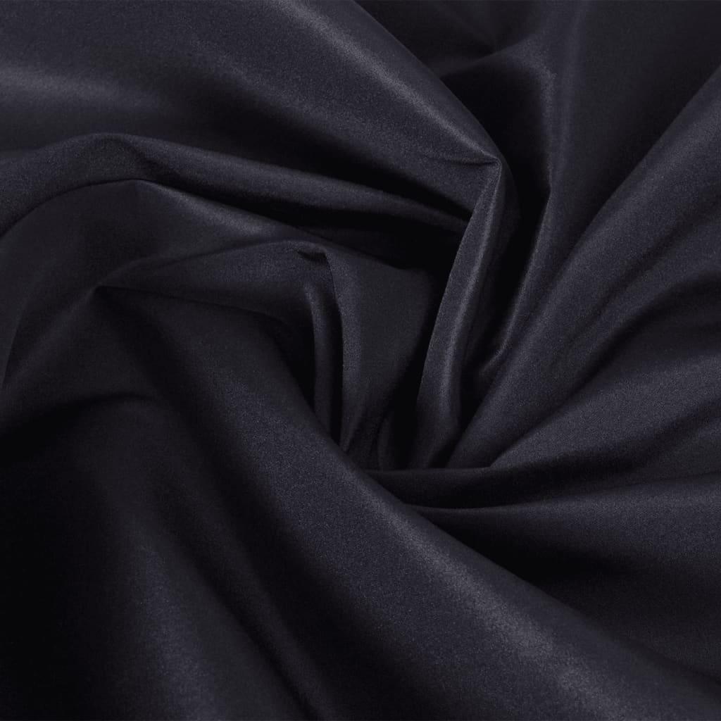 Țesătură micro-satin, 1,45 x 20 m, negru imagine vidaxl.ro