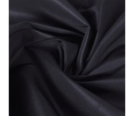 Mikro Satino Audinys, 1,45 x 20 m, Juodas