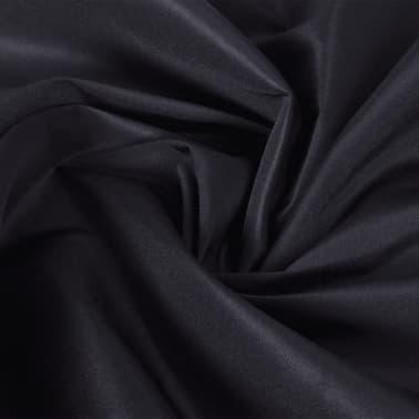 Tissu satin microfibre noir 1,45 x 20 m[1/2]
