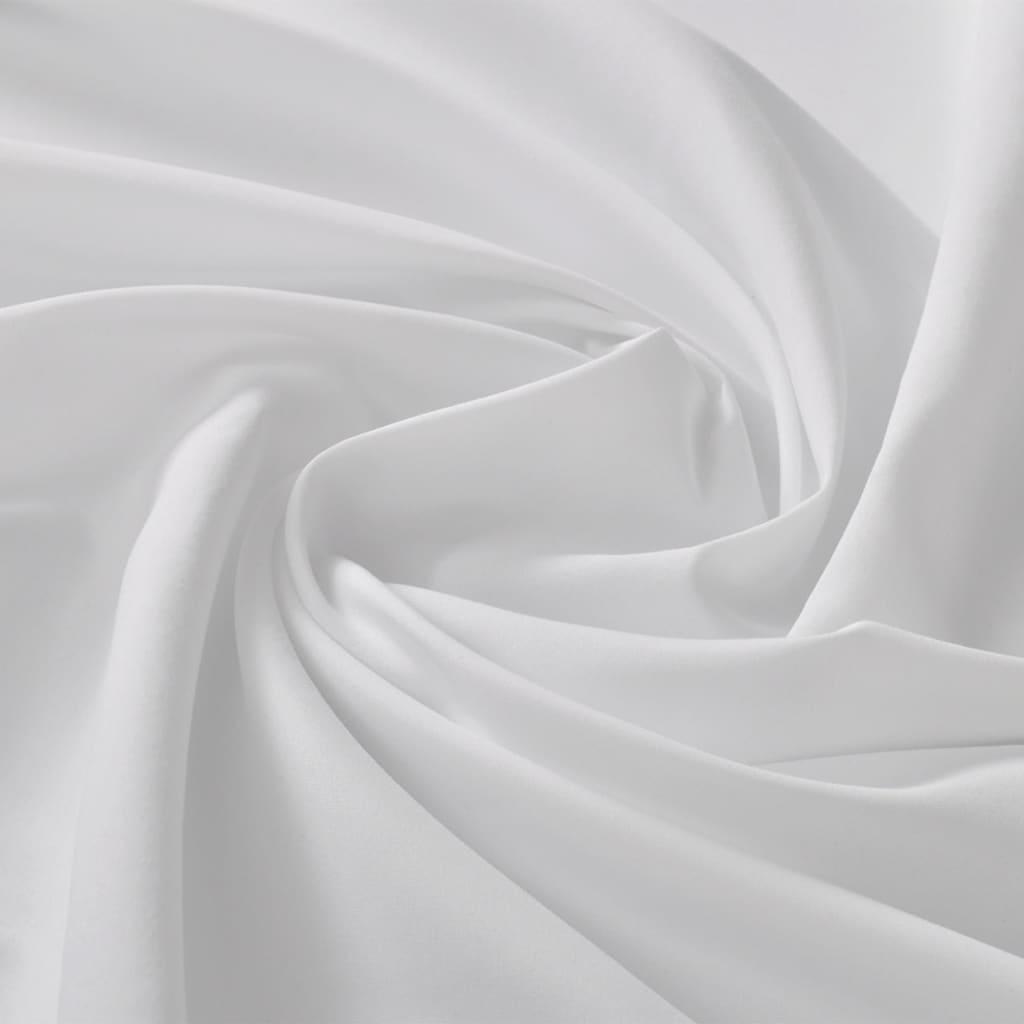 Țesătură micro-satin 1,45 x 20 m alb imagine vidaxl.ro