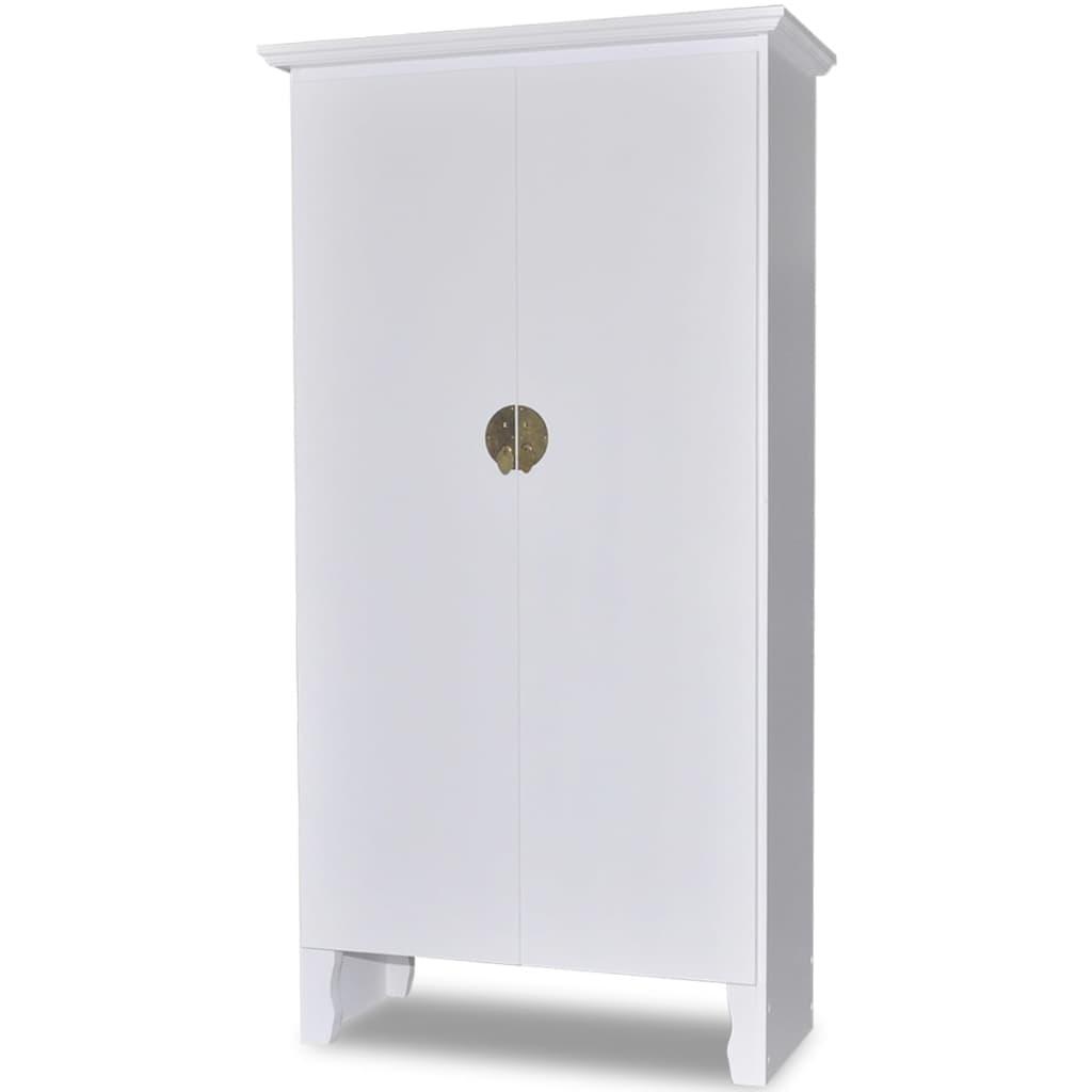 vidaXL Dřevěná svatební skříň v čínském stylu s 3 policemi a 2 dveřmi