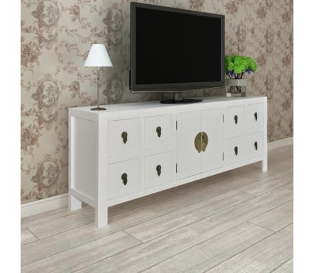 vidaXL Wooden Sideboard Asian Style with 8 Drawers and 2 Doors[3/9]