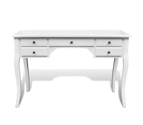 Medinis prancūziško stil. stalas, išlenktomis kojomis, su 5 stalčiais[2/4]