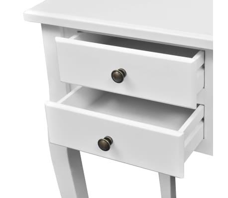 Medinis prancūziško stil. stalas, išlenktomis kojomis, su 5 stalčiais[3/4]