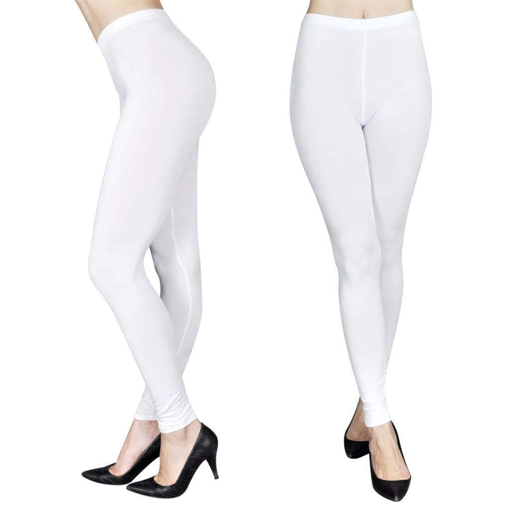Afbeelding van vidaXL Legging maat L/XL (wit) set van 2