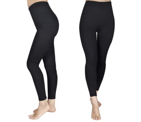 2 pcs Girls' Leggings 110/116 Black[1/4]