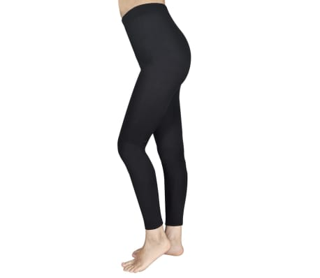 2 pcs Girls' Leggings 110/116 Black[3/4]