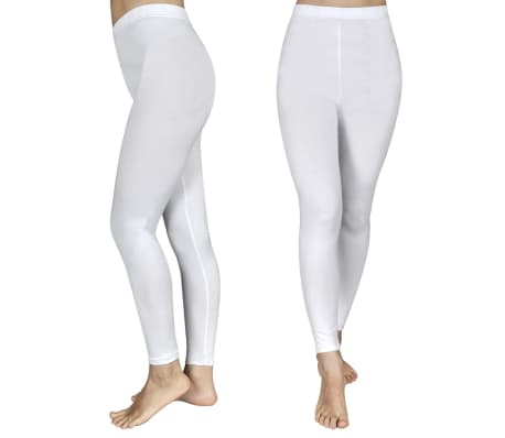 Set de 2 leggings fille blancs 110/116