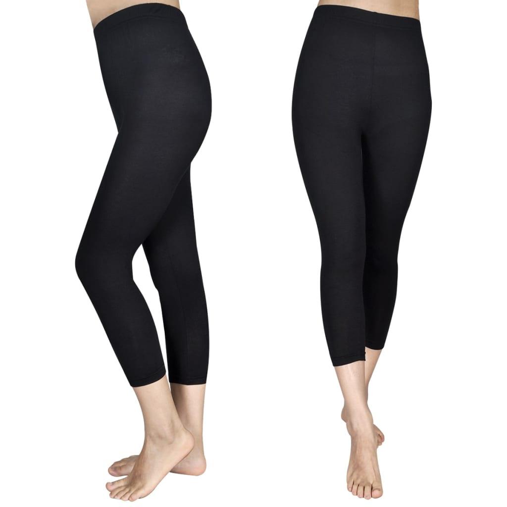 Afbeelding van vidaXL 3/4 Legging voor meisjes maat 146/156 (zwart) set van 2