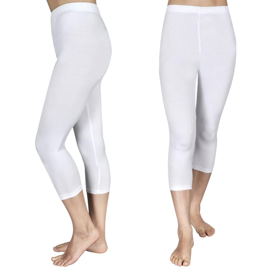 Afbeelding van vidaXL 3/4 Legging voor meisjes maat 110/116 (wit) set van 2
