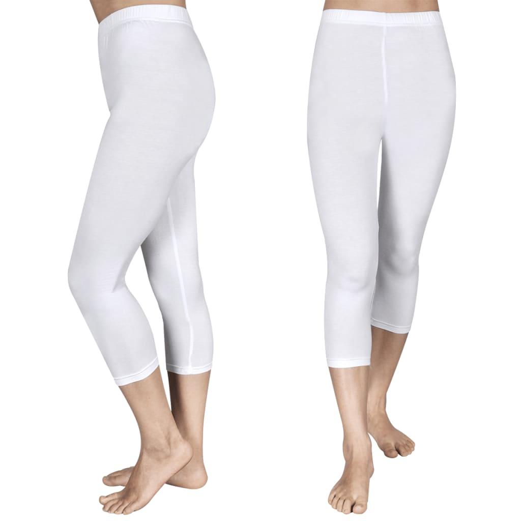 Afbeelding van vidaXL 3/4 Legging voor meisjes maat 122/128 (wit) set van 2