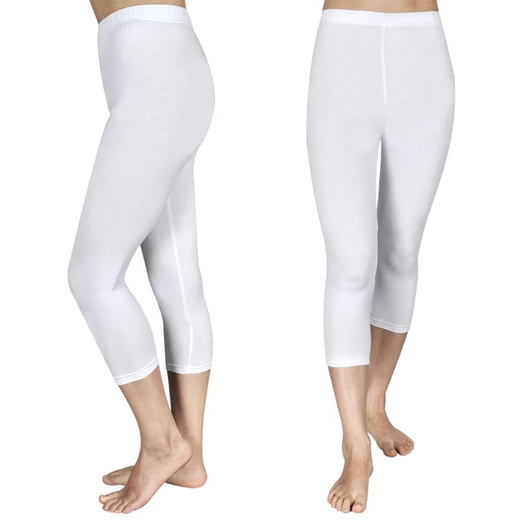 Afbeelding van vidaXL 3/4 Legging voor meisjes maat 134/140 (wit) set van 2