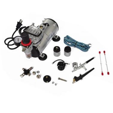 Airbrush Compressor Set with 2 Pistols[6/6]