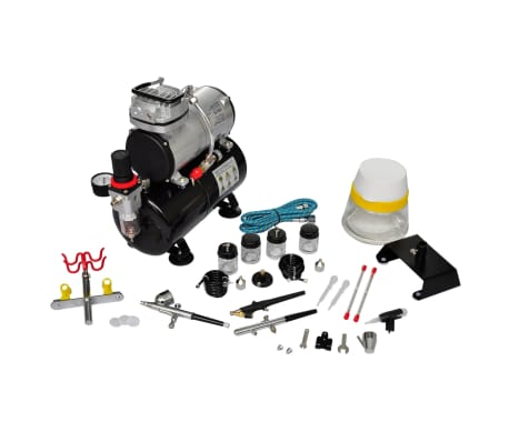 "Airbrush Compressor Set with 3 Pistols 1' x 5.9"" x 1'[2/7]"