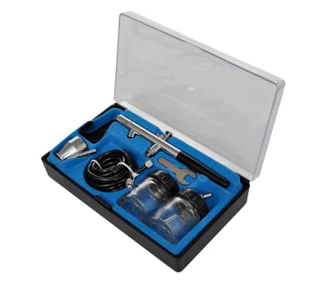 "Airbrush Compressor Set with 3 Pistols 1' x 5.9"" x 1'[3/7]"