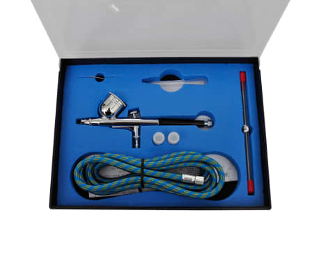 "Airbrush Compressor Set with 3 Pistols 1' x 5.9"" x 1'[4/7]"