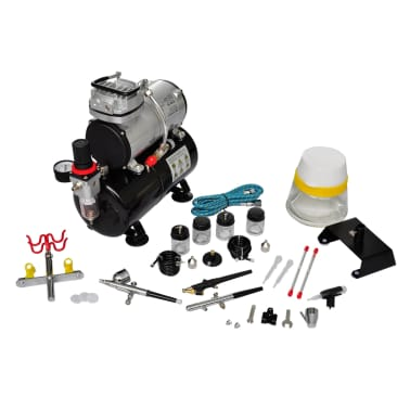 Airbrush Compressor Set with 3 Pistols 1