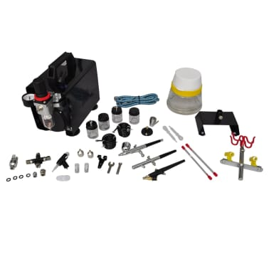 "Airbrush Compressor Set with 3 Pistols 10"" x 5.3"" x 8.7""[2/6]"