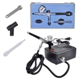 "Airbrush Compressor Set with Air Flow Regulator 4' 11"" Air Hose"