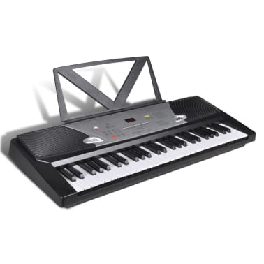 54 Piano-Key Electric Keyboard with Music Stand[1/4]