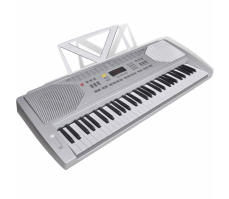 61 Piano-Key Electric Keyboard with Music Stand[1/5]