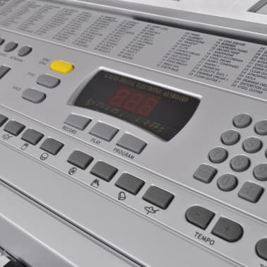 61 Piano-Key Electric Keyboard with Music Stand[3/5]