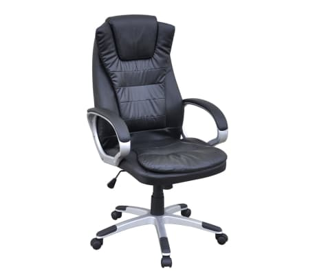 Black Artificial Leather Office Chair[1/5]