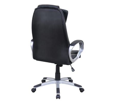 Black Artificial Leather Office Chair[3/5]