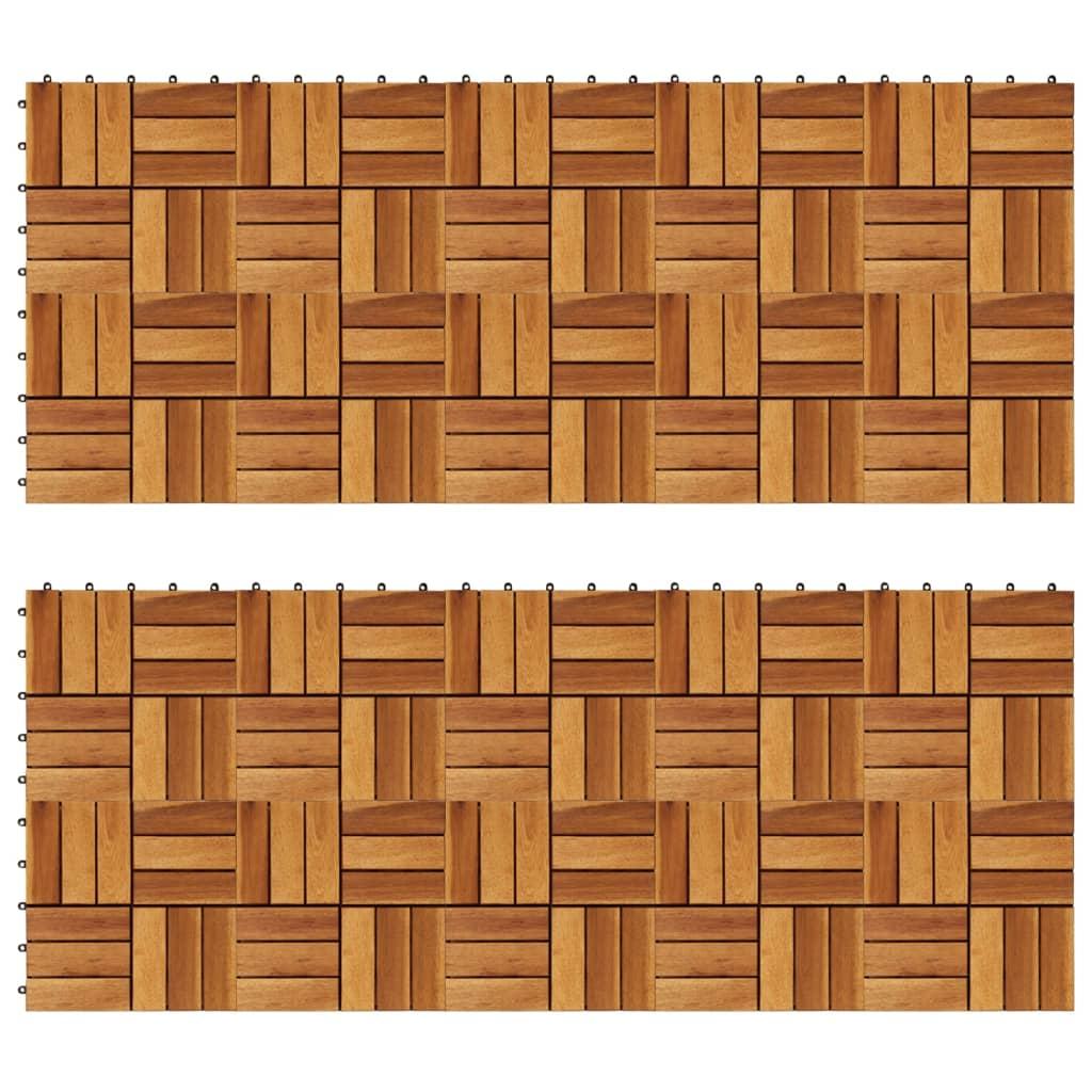 Set dale din lemn de acacia, 30 x 30 cm, 20 buc. poza vidaxl.ro