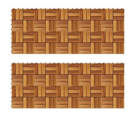 Balkongplattor i akaciaträ 30 x 30, 20 st[1/5]