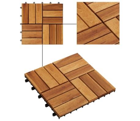 Balkongplattor i akaciaträ 30 x 30, 20 st[3/5]