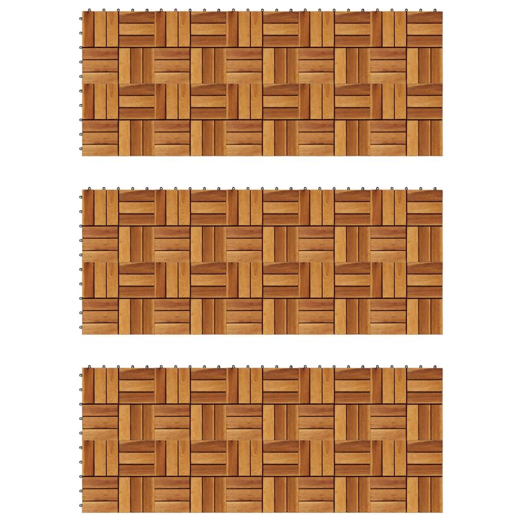 Set dale din lemn de salcâm 30 x 30 cm, 30 buc. poza vidaxl.ro